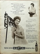 Martini Better Drink Martini Sweet Or Dry Vintage Advertisement 1956