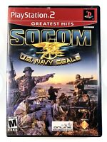 FREE SHIPPING! SOCOM: US Navy Seals (Sony Playstation 2 PS2) Complete CIB GH