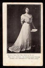 c.1903 miss lena ashwell schauspielerin im widerstreit shulamite postkarte