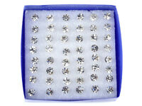 Wholesale Lot 24Pairs Crystal Earrings Ear Stud 1 Box Allergy Free Neddle Gifts