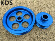 Lightweight Pulley for 04-07 Subaru Impreza & WRX & STI EJ20 EJ25 2PCS blue
