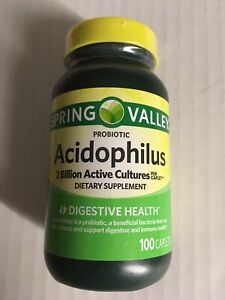 2 Billion Count Acidophilus Probiotic ~ Spring Valley ~ 100 Caplets!