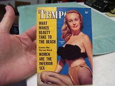 TEMPO MINI PULP MAGAZINE MAY 1956, VIRGINIA LEE, MARA McAFEE, PINUPS
