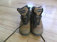 Earth Brand Shoe Brown Suede Leather Hiking Boots Men's 7 1/2 Women's 9 140614