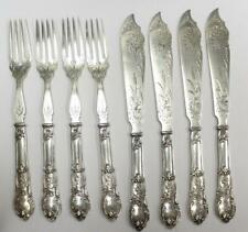 Vintage German Fish set Wilkens .800 silver 8 piece solid rare flatware 490g