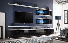Wohnwand Anbauwand Wohnzimmer Schrankwand TV-Board Malma mit Led Beleuchtung 21