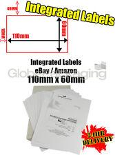 2000 x EBAY / AMAZON A4 INTEGRATED LABELS 110x60mm (S14 / G14) ADDRESS PEEL OFF