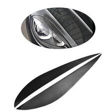 2PCS HeadLight Eyelid Eyebrows for Porsche Macan 2014-2018 Factory Carbon  Fiber
