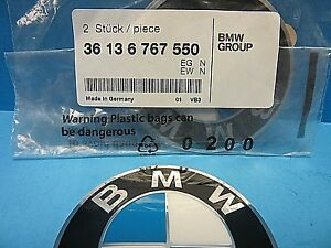 "1 Genuine Wheel Center Cap Emblems BMW OEM # 36136767550 64.5mm 2.5"" Adhesive"