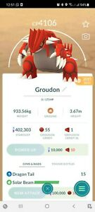 Pokemon Legendary Go Groudon Level 40 PVP Master League Same Day Trade Or 30 Day