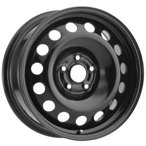 """Vision SW60 Steel Mod 17x6.5 5x100 +50mm Black Wheel Rim 17"""" Inch"""