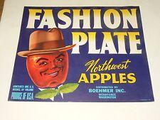 Etiquette Cageot Pomme USA Label Crate Fruit Apple Hat Washington Chapeau poster