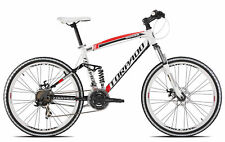 bicycle mtb full suv99 26 alu 3x7s disc size 48 white red Torpado Mountain bike