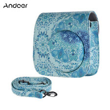 Andoer PU Camera Case Bag for Fuji Instax Mini 9/8+/8s/8, Blue U3N5