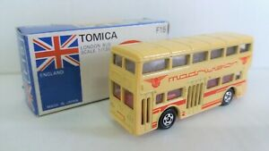 """C Tomy Tomica F15 -1-25 LONDON DOUBLE DECK BUS """"MADRIVISION"""" (JAPAN)"""
