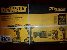 NEW! DEWALT DCK420D2 4-TOOL 20V MAX LITHIUM ION COMBO w/BATTERY FREE SHIPPING!!!