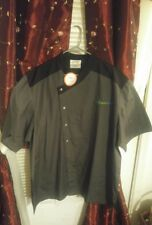 Happy Chef 2X Culinary Chef Grey/Black Short Sleeve Coat Jacket Mandarin Collar
