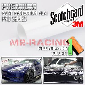 "8""x48"" PPF 3M Scotchgard Paint Protection Film Pro Series Gloss Clear Bra Vinyl"