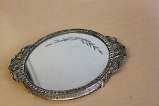 Fancy Vintage Small Metal Mirrored Vanity Plateau