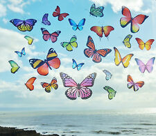 Colourful Butterflies Static Cling Reusable Window Stickers peel and stick