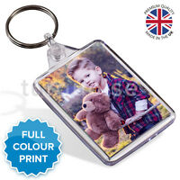 Personalised Custom Printed Photo Gift Keyring Key Fob 50 x 35 mm | Medium Size