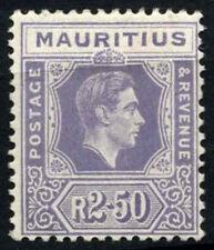 Mauritius 1938-49 SG#261, 2R50 Pale Violet KGVI MH Chalk Paper #D41988