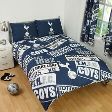 TOTTENHAM FC PATCH DOUBLE DUVET COVER & PILLOWCASE SET 100% OFFICIAL NEW