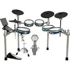 Simmons Sd1200 Expanded Electronic Drum Kit with Mesh Pads Blue Metallic