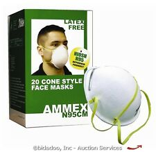 Lot (40) N95 Cone-Style Industrial Face/Dust Mask NEW - bidadoo Auctions