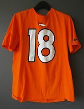 Denver Broncos #18 Manning NFL Nike Team Apparel Jersey T-Shirt L Orange Large