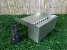 200mm Stainless Steel Waterfall WATER BLADE Cascade 130mm Spout BOTTOM INLET