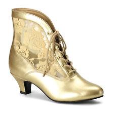 Gold Marie Antoinette Princess Queen Period Duchess Costume Vintage Boots Womans
