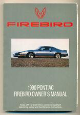 Pontiac FIREBIRD  Betriebsanleitung Bedienungsanleitung Owners Manual   1990