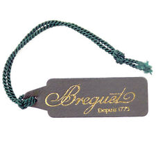 BREGUET DEPUIS 1975 DARK OLIVE GREEN LEATHER WATCH TAG IN GREAT CONDITION