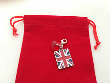 British Flag / Union Jack Clip on Charm with Red Gift Bag - FREE P&P