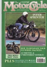 Classic MotorCycle July 90 : Model H Velocette : Norton Inter : Moto-Reve : TRW