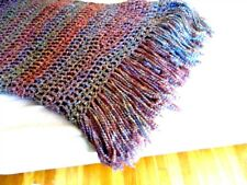 Throw Blanket Multicolor Afghan Handmade NWOT Afghan READY TO SHIP Home Decor