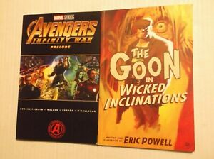 AVENGERS:  INFINITY WAR PRELUDE + THE GOON:  WICKED INCLINATIONS TPB LOT
