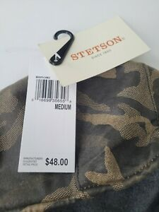 Stetson Mens Green Camouflage Ivy Flat Cap