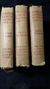 G. Piazzi: La novella fronda 3 Tomi  Manuale storico di letteratura ed arte