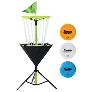 Disc Golf Set Includes Disc Golf Basket, Three Golf Discs and Carrying Bag