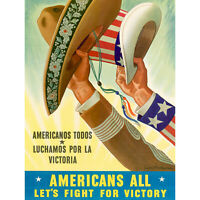 PROPAGANDA AMERICANOS USA WAR MEXICAN UNCLE SAM 30X40 CMS FINE ART PRINT ART POS