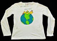 women's Hand painted Kudzoo Kids Christmas t shirts size medium peeps on earth!