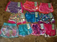 Nwt Girls Skechers Active Shorts Athletic Pink Blue Purple Green 4 5/6 7/8