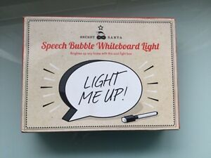 New in box Speech Bubble Whiteboard Light - A5 size requires 3 AA batteries