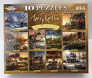 WHITE MOUNTAIN PUZZLES BY TERRY REDLIN 10 PUZZLES IN ONE 100 to 500 PIECES - NEW