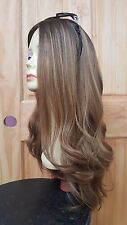 """Malky Wigs Sheitel European Multidirectional rooted 26"""" Light Medium Brown"""
