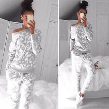 Damen Hausanzug Sportanzug Jogginganzug Sweatshirt Freizeithosen Trainingsanzug