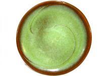 "Vintage Frankoma 4F Lazy Bones Prairie Green Dinner Plate 10"""