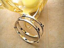 ONE Silpada 925 Sterling Silver Hammered Bangle Bracelet w/Different Gemstones